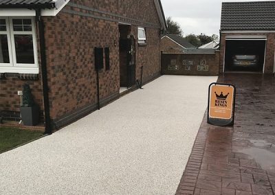 Grey resin paving in Gateshead