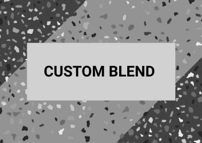 Custom blend mix-and-match colour resin paving