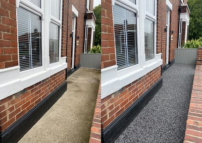Resin paving before and after