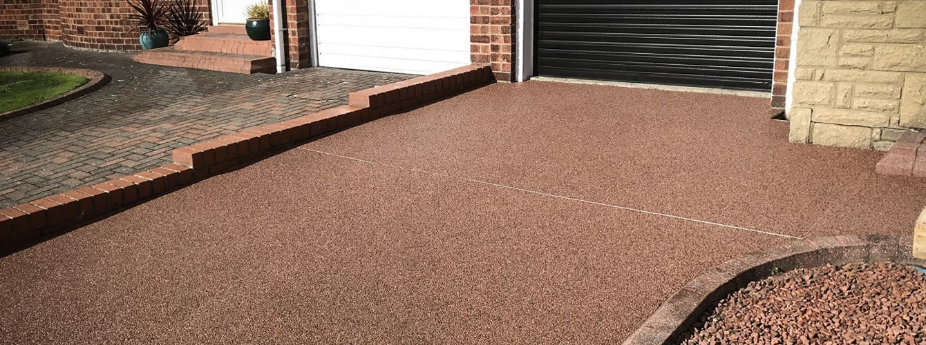 Resin paving driveway in Newcastle upon Tyne